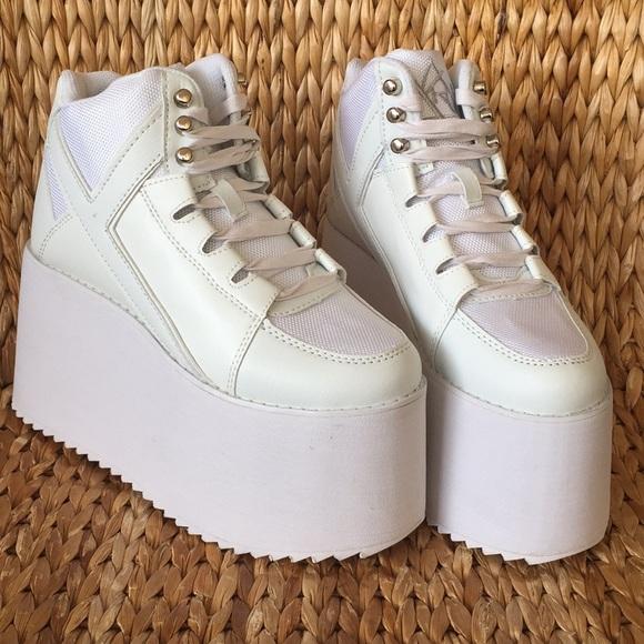821b28d1396b 💕NIB YRU Qozmo Hi2 Platform Sneakers